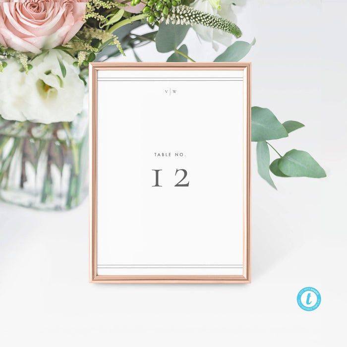 Elegant Table numbers - Pearly Paper
