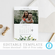 Load image into Gallery viewer, Save the Date Calendar Greenery - Pearly Paper