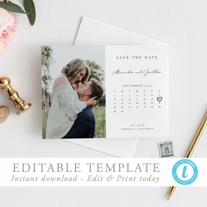 Calendar Save the Date - Pearly Paper