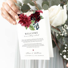 Load image into Gallery viewer, Floral Wedding Weekend Itinerary - Pearly Paper