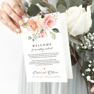 Coral Wedding Weekend Itinerary - Pearly Paper