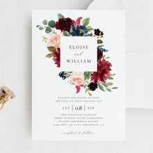Load image into Gallery viewer, Wedding Invitation Editable Template Printable - Pearly Paper