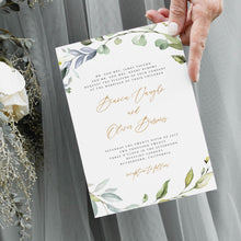 Load image into Gallery viewer, Greenery Wedding Invitation Set Invitation - Pearly Paper