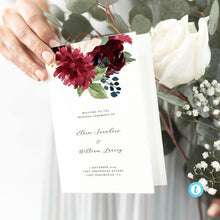 Load image into Gallery viewer, Floral wedding program - Pearly Paper