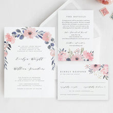 Load image into Gallery viewer, Wedding Invitation Template Floral Wedding - Pearly Paper
