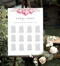 Load image into Gallery viewer, Floral Rustic Seating Chart Sign - Pearly Paper