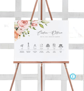 Wedding timeline Template Download Order - Pearly Paper
