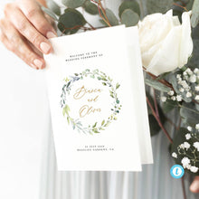 Load image into Gallery viewer, Wedding Ceremony Program Greenery - Pearly Paper