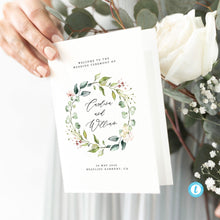 Load image into Gallery viewer, Wedding Ceremony Program Floral - Pearly Paper