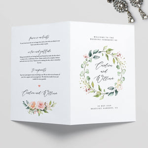 Wedding Ceremony Program Floral - Pearly Paper