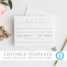 Load image into Gallery viewer, Modern RSVP Card Simple modern - Pearly Paper