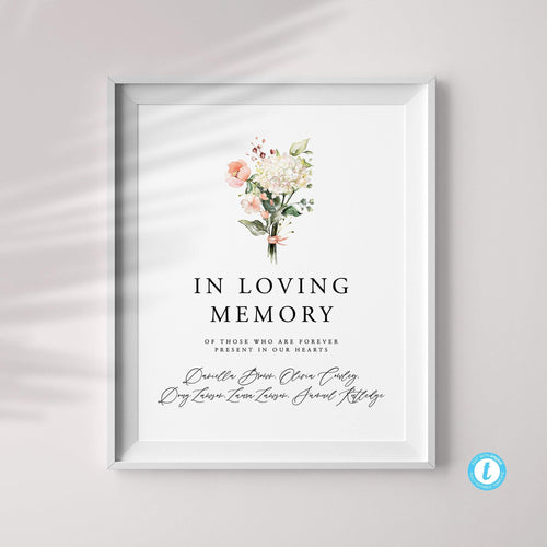 In Loving Memory Wedding Template - Pearly Paper