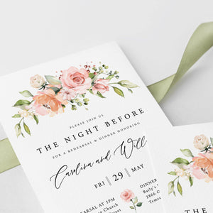 Floral Wedding Rehearsal Dinner - Pearly Paper