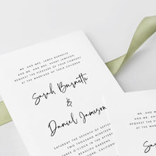 Load image into Gallery viewer, Wedding Invitation Template Modern Wedding - Pearly Paper