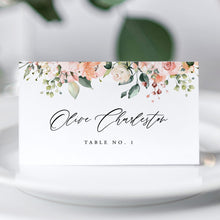 Load image into Gallery viewer, Place Cards Floral - Pearly Paper