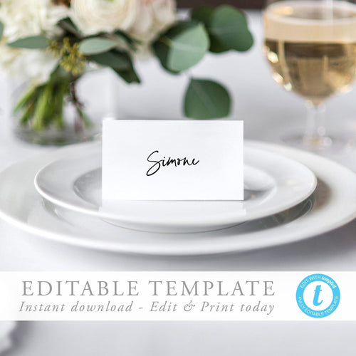 Modern Place Cards - Pearly Paper
