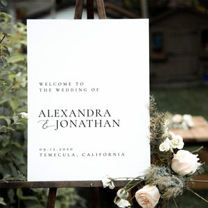 Wedding welcome sign Template Download - Pearly Paper