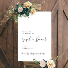 Load image into Gallery viewer, Welcome Sign Wedding sign Templett - Pearly Paper