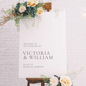Welcome Sign Wedding Welcome sign - Pearly Paper