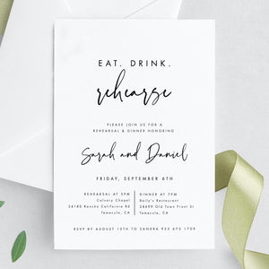Wedding Rehearsal Dinner Modern - Pearly Paper