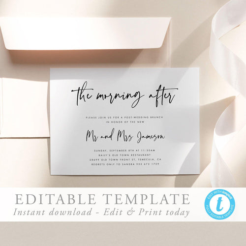 The morning After Brunch Invitation - Pearly Paper
