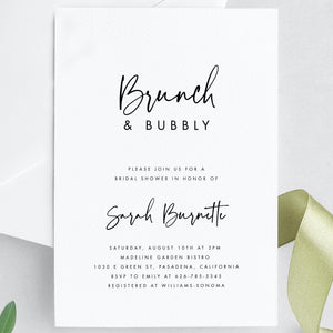 Bridal Shower Invitation Template - Pearly Paper