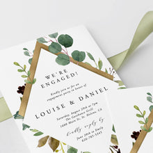 Load image into Gallery viewer, Engagement party invitation Rustic - Pearly Paper