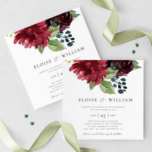 Load image into Gallery viewer, Square Wedding Invitation Template DIY - Pearly Paper