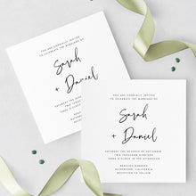Load image into Gallery viewer, Square Wedding Invitation Set Template - Pearly Paper