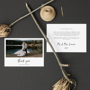 Modern Wedding Thank You Card - Pearly Paper