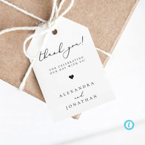 Wedding Tag Modern Favor Tags - Pearly Paper