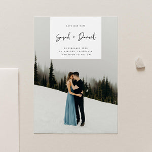 Save the Date Photo Invitation - Pearly Paper