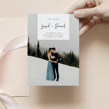 Load image into Gallery viewer, Save the Date Photo Invitation - Pearly Paper