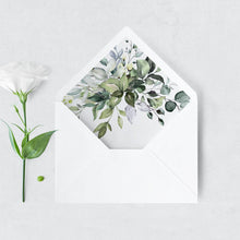 Load image into Gallery viewer, Rustic Envelope Liner Greenery - Pearly Paper