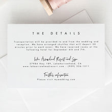 Load image into Gallery viewer, Modern Details card Template Details - Pearly Paper