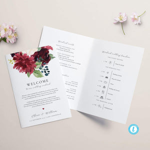 Floral Wedding Weekend Itinerary - Pearly Paper