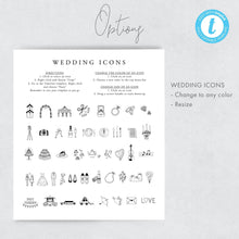 Load image into Gallery viewer, Coral Wedding Weekend Itinerary - Pearly Paper