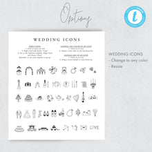 Load image into Gallery viewer, Wedding Day Timeline Card Floral - Pearly Paper