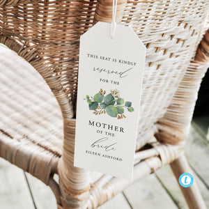 Eucalyptus Reserved Seating Tags - Pearly Paper