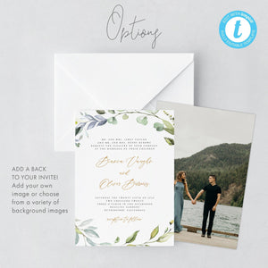 Rustic Wedding Invitation Template download - Pearly Paper
