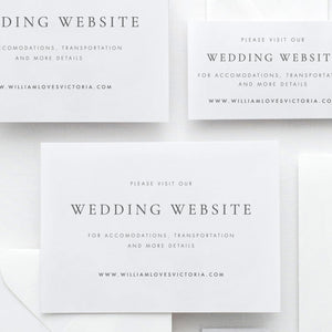 Wedding Website Insert Card Wedding - Pearly Paper