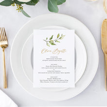 Load image into Gallery viewer, Rustic Wedding Menu Place Cards - Pearly Paper