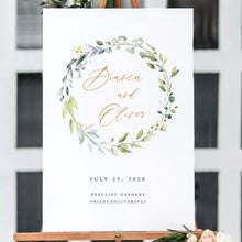 Load image into Gallery viewer, Greenery welcome sign Template Editable - Pearly Paper