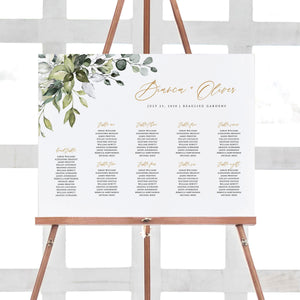Rustic Seating Chart Sign - Pearly Paper