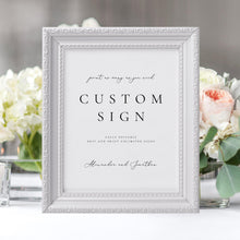 Load image into Gallery viewer, Printable Custom Sign Template Modern - Pearly Paper