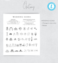 Load image into Gallery viewer, Wedding timeline Template Download Order - Pearly Paper