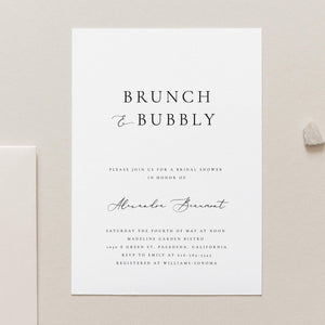 Brunch and Bubbly Bridal Shower Invitation - Pearly Paper