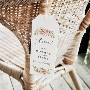 Reserved Seating Tags Floral - Pearly Paper