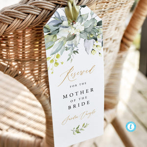 Wedding Seating Tag Wedding Reserved Tags - Pearly Paper