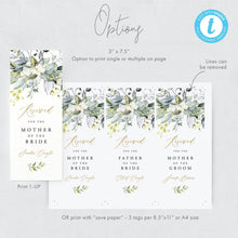 Load image into Gallery viewer, Wedding Seating Tag Wedding Reserved Tags - Pearly Paper